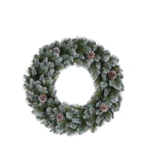 """Empress wreath green frosted TIPS 140 - 17.75"""""""