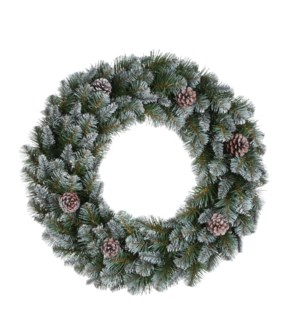 """Empress wreath green frosted TIPS 160 - 23.75"""""""