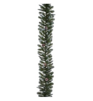 "Empress Spruce frosted garland green TIPS 140 - 13""x6'"