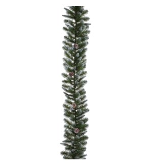 """Empress garland green frosted TIPS 210 - 106.5x13"""""""