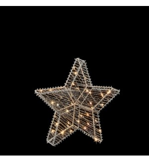 """Star grey warm white 3D 35led battery operated - 2x11.75"""""""