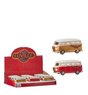 Van red gold 2 assorted battery operated - 4.5x2.25x2""