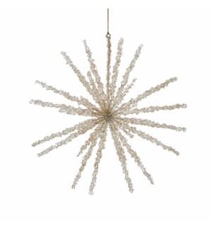"Ornament snowflake gold - 15.25x1"""