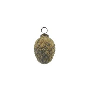 """Ornament pine cone cream - 2.5x3"""""""