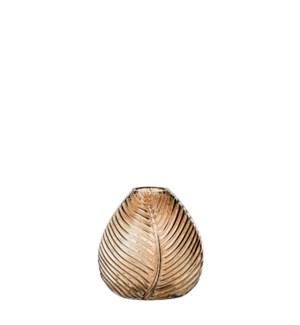 """Stig vase glass gold - 4.75x4.75"""""""