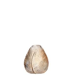"""Stig vase glass gold - 5.25x5.75"""""""