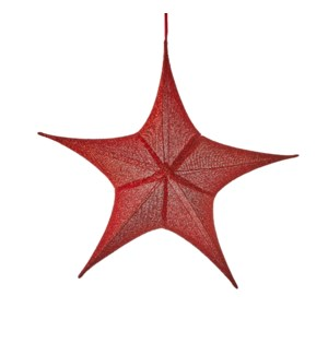 Star hanging red - 31.5x10.25x29.5""