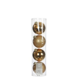 """Bauble glass gold 4 pieces - 4"""""""