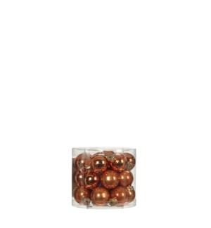 """Bauble glass copper 24 pieces - 1"""""""