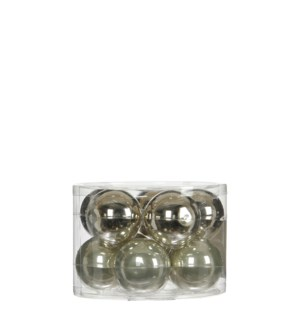 """Bauble glass l. green 10 pieces - 2.25"""""""