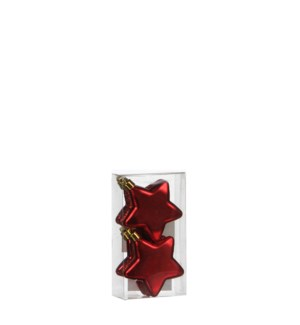 """Star unbreakable red 6 pieces - 2.5"""""""