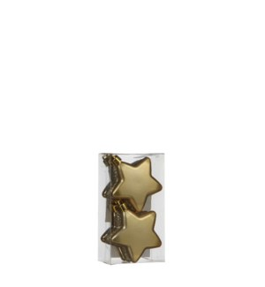 """Star unbreakable gold 6 pieces - 2.5"""""""