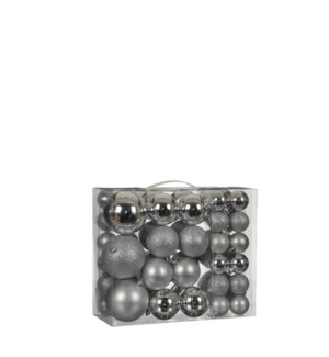 Bauble unbreakable silver 46 pieces - 3.25""