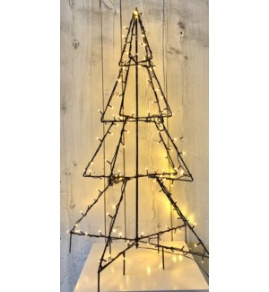 "Outdoor 3D Tree 12x48"" 160L Warm White"