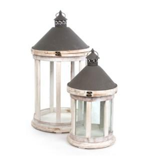 """Lantern white set of 2 - 14.5x28"""""""