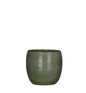 "Loomy pot round green - 9.5x8.75"""