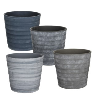 Gianni pot round 4 assorted pdq - 14.5x12.5""