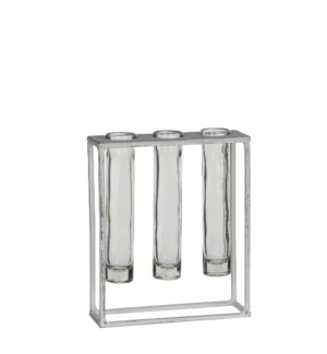 Matte test-tube holder white - 6.75x2.25x8""
