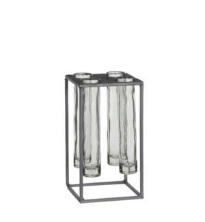 "Matte test-tube holder grey - 4.25x4.25x8"""