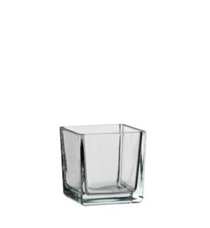 "Lotty vase square transparent - 3.25x3.25x3.25"""