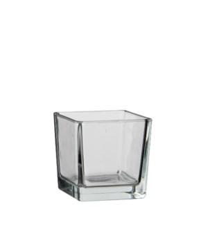 "Lotty vase square transparent - 4x4x4"""