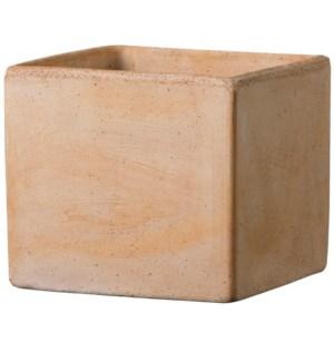 """Cube Box 7x6""""H Tuscan Clay Terra"""
