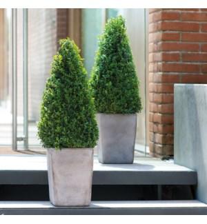 "Copenhagen Vase 8.75x12""H Tuscan Clay Grey"