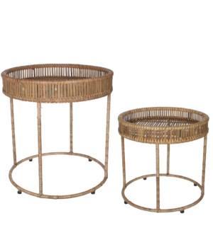 "Monitola table beige set of 2 - 20x21.25"""