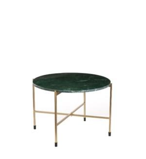 "Nanne side table d. green - 24.5x16.25"""