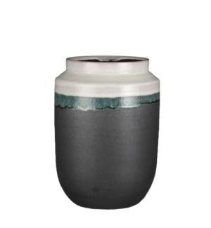 """Frati vase round white - 8.25x11.5"""""""