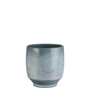 "Dafni pot round blue - 9x9.5"""
