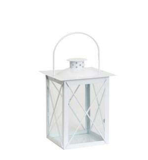 "Zaragoza lantern white  - 6.75x6.75x11.75"""