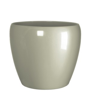 "Lidy pot round taupe  - 11.5x9.75"""