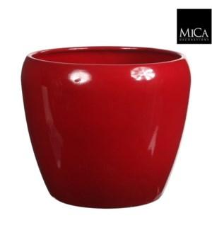 "Lidy pot round red  - 11.5x9.75"""