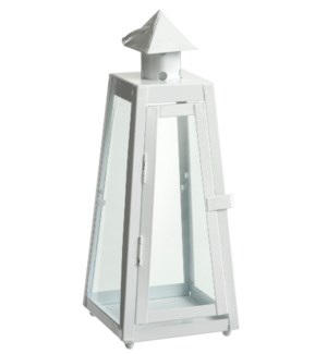 Napoli lantern white set of 3  - 8.25x8.25x21""