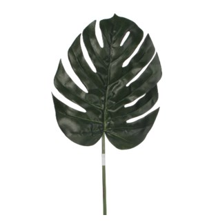 Monstera leafs green  - 34.75""