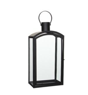 "Lantern black  - 11.25x7.25x22.75"""