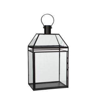 "Lois lantern black  - 11.75x8.25x20.75"""