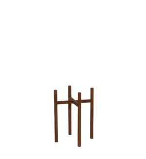 "Ascot plant stand rust  - 6.5x6.5x9.75"""