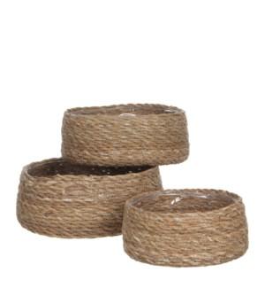 "Atlantic basket brown set of 3  - 10.25x4"""