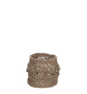 """Belmond basket brown  - 4.75x4.75"""""""
