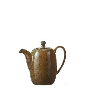 """Noah teapot brown  - 7.5x7.25x6.5"""""""