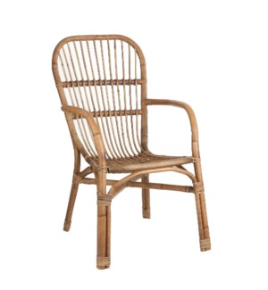 Maya chair l. brown - 30.25x22.5x37""