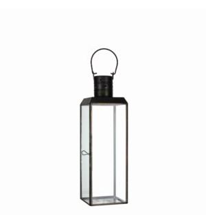 "Bengale lantern black antique - 4.5x4.5x14.5"""