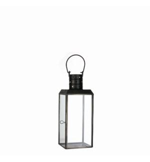 "Bengale lantern black antique - 4.5x4.5x11.75"""