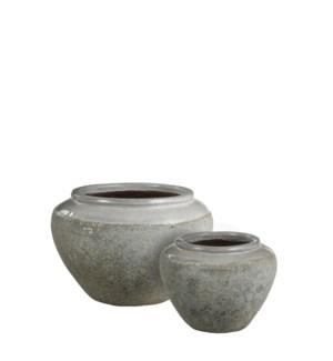 """Etna Pot white -21.75x14.5"""""""