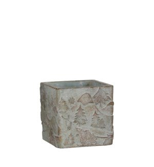 """Falco pot square beige - 4x4x4"""""""