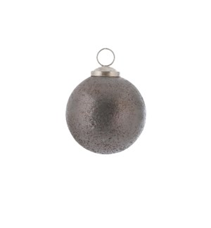 """Bauble glass grey - 3.25"""""""