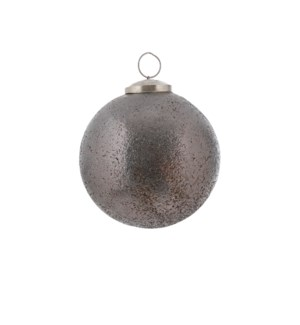 """Bauble glass grey - 4"""""""