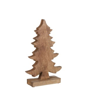 Decoration x-mas tree stand gold - 8x2.25x12.5""